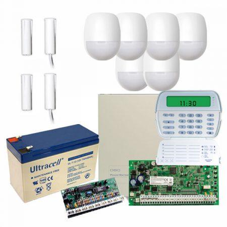 DSC - PC1864 központ csomag LCD billentyűzettel