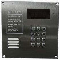 DP3001 központ Inox előlappal, nyomógombbal