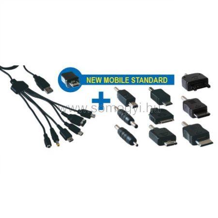 USB töltő / adatkábel szett SA 029